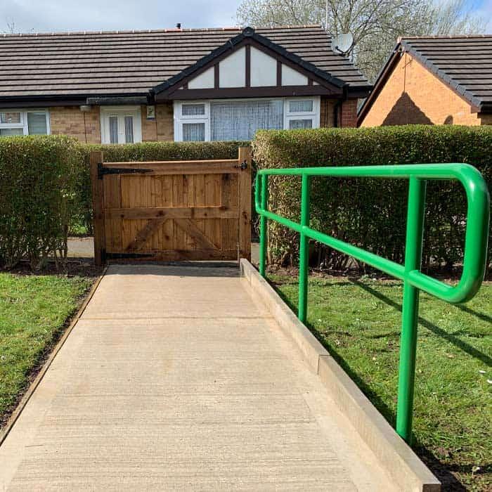 large-gated-concrete-path-accessibility-carlton-design-fabrication